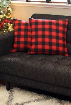diy holiday pillow covers from a 3 target dollar spot blanket, christmas decorations, crafts, seasonal holiday decor