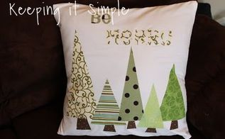 diy christmas tree pillow, christmas decorations, crafts, how to, seasonal holiday decor, reupholster