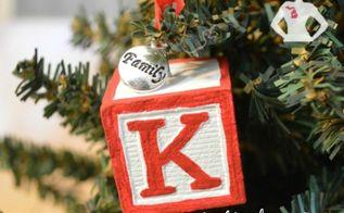 diy block ornaments, christmas decorations, crafts, seasonal holiday decor