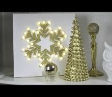diy gold beaded christmas tree, christmas decorations, crafts, seasonal holiday decor