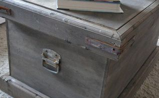 pottery barn inspired diy vintage trunk, diy, rustic furniture, storage ideas, woodworking projects