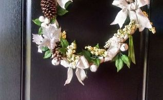 basket handle wreath, crafts, repurposing upcycling, wreaths
