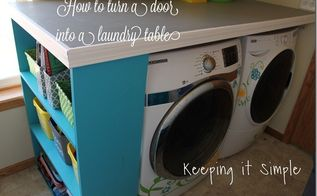 how to turn a door into a laundry room table diy, diy, doors, how to, laundry rooms, painted furniture, repurposing upcycling