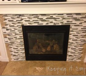 Fire Place Makeover With Mosaic Tiles #DIY #Tiling | Hometalk