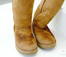 how to clean ugg boots or any sheepskin boots at home, cleaning tips, how to