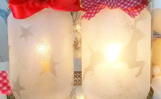 christmas decoration ideas diy frosted candle holders, christmas decorations, crafts, how to, seasonal holiday decor