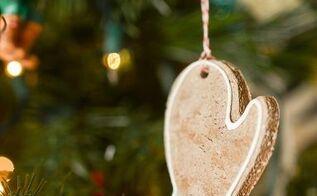 gingerbread scented salt dough ornaments, christmas decorations, seasonal holiday decor
