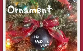diy chalkboard christmas tree ornaments, chalkboard paint, christmas decorations, crafts, how to, seasonal holiday decor