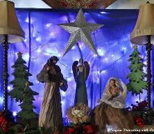 creating a nativity on the mantel, christmas decorations, fireplaces mantels, seasonal holiday decor