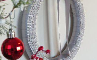 elegant satin wreath, christmas decorations, crafts, wreaths