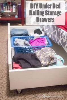 diy under bed rolling storage drawers, diy, storage ideas, woodworking projects