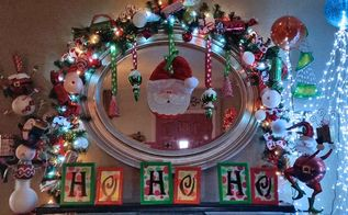 innovative idea mantel garland, christmas decorations, crafts, fireplaces mantels, repurposing upcycling, seasonal holiday decor