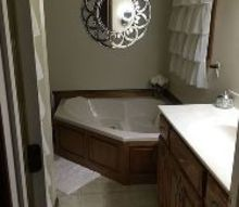 q cream bathroom decor advice, bathroom ideas, home decor, home decor dilemma, Walking into the door Sink vanity on right and shower stall on left behind the door