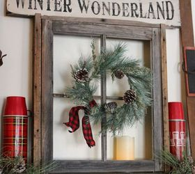 = Anchoring A Christmas Mantel With An Old Weathered Window