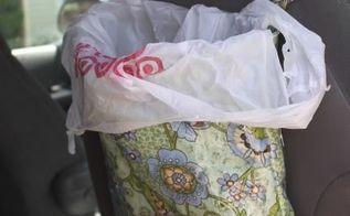 diy hanging car garbage bag diy, crafts, organizing