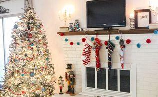 colorful vintage christmas home tour, christmas decorations, home decor, seasonal holiday decor