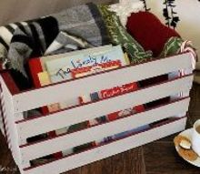 holiday crate where organization meets decoration, chalk paint, christmas decorations, how to, organizing, seasonal holiday decor, storage ideas