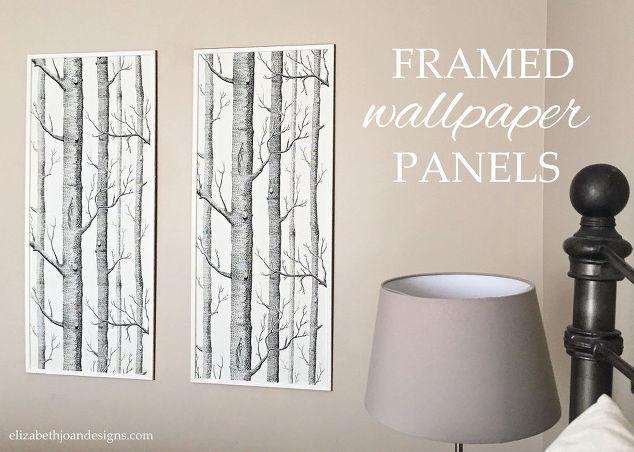 framed wallpaper panels hometalk