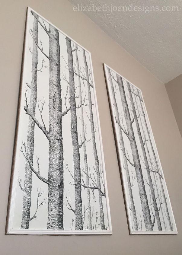 Decorative Wallpaper Panels : Framed wallpaper panels hometalk