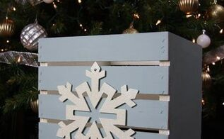 christmas diy wood crate and 4 chalky paint recipes, chalk paint, christmas decorations, crafts, seasonal holiday decor