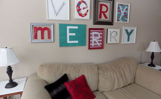 very merry gallery wall holiday decor, christmas decorations, crafts, seasonal holiday decor, wall decor