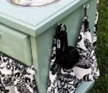 ugly endtable upcycle, painted furniture
