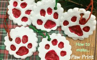 paw print ornaments, christmas decorations, crafts, pets animals, seasonal holiday decor