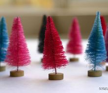 colorful trees are expensive at the store dye them at home for less, crafts