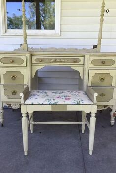 antique vanity, painted furniture