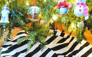 the easiest fastest cheapest tree skirt ever, christmas decorations, crafts, seasonal holiday decor