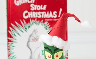 toilet paper roll grinch, christmas decorations, crafts, seasonal holiday decor