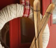 diy joy sign sweater wreath, christmas decorations, crafts, home decor, seasonal holiday decor, wreaths