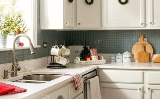 very merry christmas home tour, christmas decorations, home decor, kitchen cabinets, kitchen design