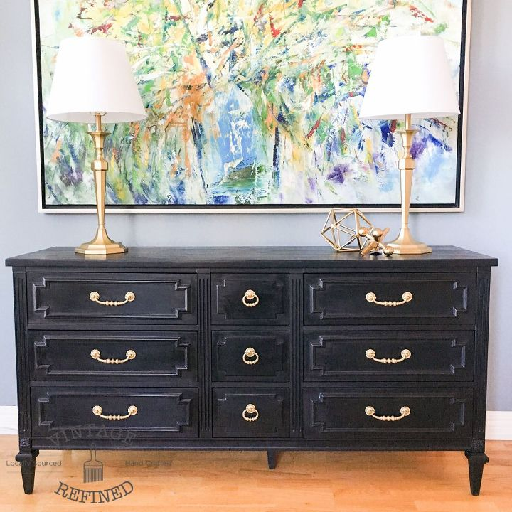 Chic Black Painted Dresser