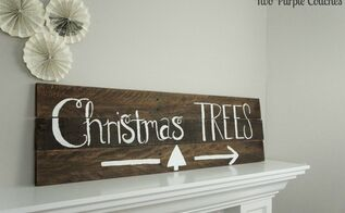 christmas trees pallet wood sign, christmas decorations, crafts, diy, pallet