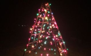 christmas tree ladder, christmas decorations, seasonal holiday decor