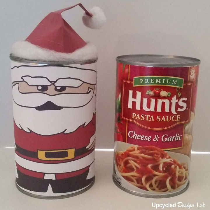 Upcycled tin can christmas nesting dolls hometalk for Christmas crafts out of tin cans