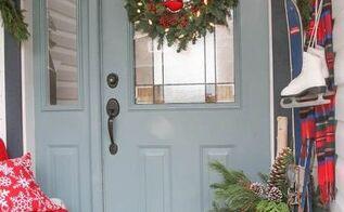 merry christmas home tour porch and entry, christmas decorations, home decor, porches, seasonal holiday decor