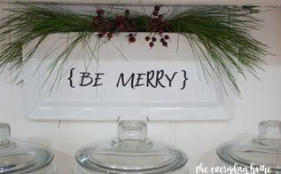 10 minute christmas be merry plate, christmas decorations, crafts, seasonal holiday decor