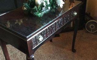 old writing desk, painted furniture