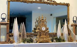 a simple inexpensive holiday mantel with casual elegance, christmas decorations, fireplaces mantels, home decor, seasonal holiday decor