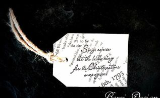 super easy diy upcycled vintage book page christmas gift tags, crafts