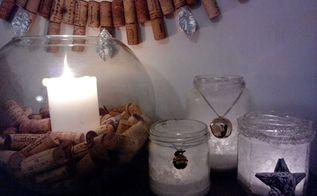 diy sea salt lantters, crafts, seasonal holiday decor