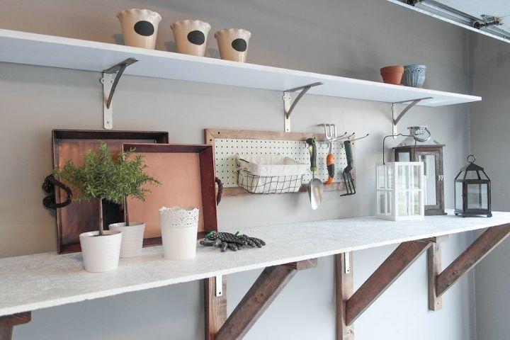 Garage Workbench Makeover Garages Home Improvement Organizing Storage Ideas