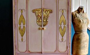 why paint it pink when you don t like pink, painted furniture, Art Deco Chifferobe