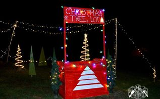 christmas decor we built a christmas tree lot, christmas decorations, outdoor living, seasonal holiday decor, woodworking projects