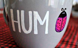 baa humbug sharpie mug, crafts, how to