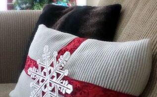 christmas diy pillow cover, christmas decorations, crafts, seasonal holiday decor