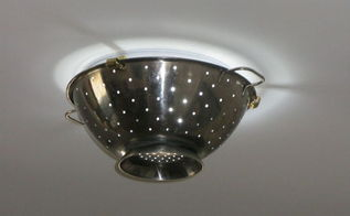 from boob light fitting to funky colander light, lighting, repurposing upcycling, Voila