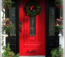 christmas front door, christmas decorations, curb appeal, doors, painting, seasonal holiday decor